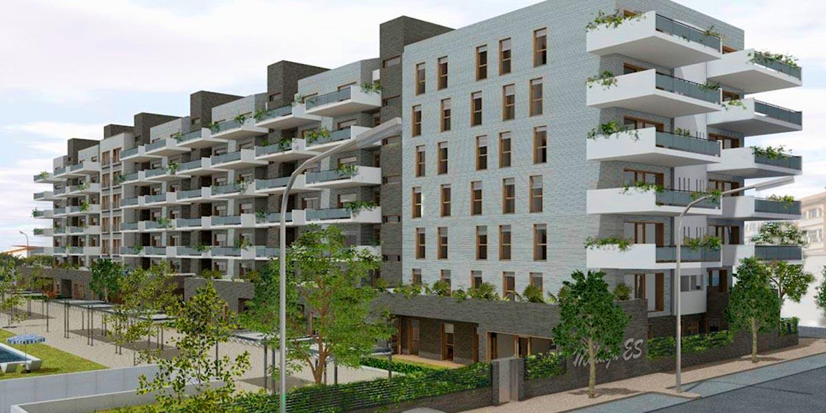 la construcción de 380 nuevas viviendas